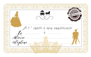 carte d invitation anniversaire princesse youpi events